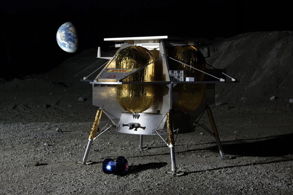 月面探査する株式会社ダイモンの月面探査車「YAOKI」のイメージ